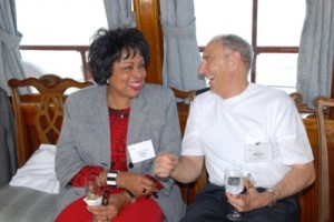 "With Congresswoman and Former Ambassador Diane Watson on the Presidential Yacht ""Sequoia"""