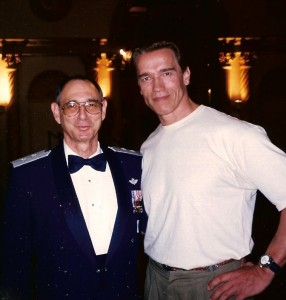 "When a Major General with Arnold Schwarzenegger on the movie set of ""True Lies"""