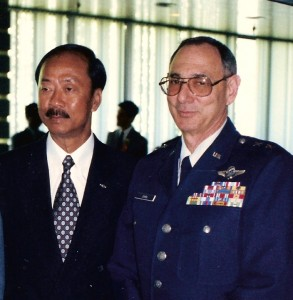 Major General Bill Cohen with General Nguyen Cao Ky, former Vice President and Prime Minister and Commander of the South Vietnamese Air Force