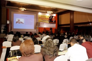 Dr. Cohen presenting in Jakarta, Indonesia.